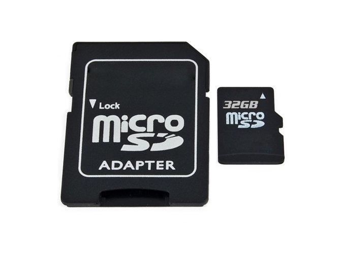Micro SDHC 32GB Class 4 + adaptér