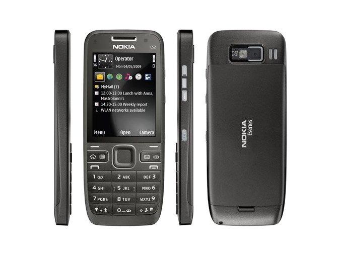 Nokia E52, černá