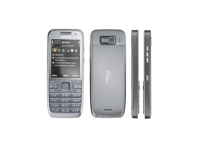 Nokia E52, stříbrná