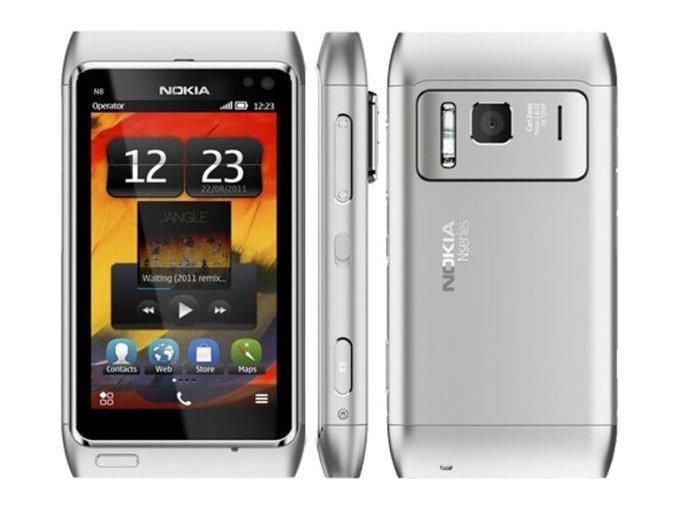 Nokia N8, stříbrná