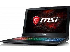 MSI GP62MVR 7RFX-1254CZ Leopard Pro, černá  i7-7700HQ, 16GB, GTX 1060 6GB GDDR5; 128SSD+1TB HDD