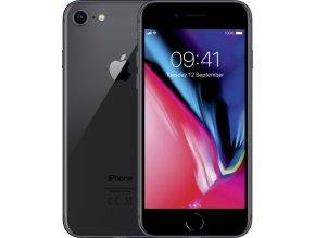 Apple iPhone 8, šedá, 64GB  + OCHRANNÉ SKLO A SILIKONOVÝ OBAL
